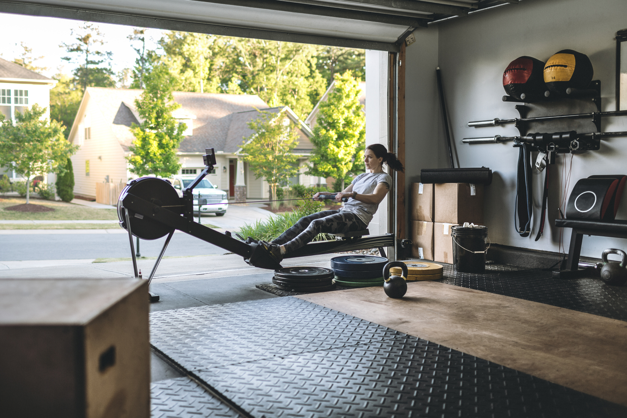 Working Out At Home Transform Your Garage Into A Personal Gym Door Pros Calldoorpros Com